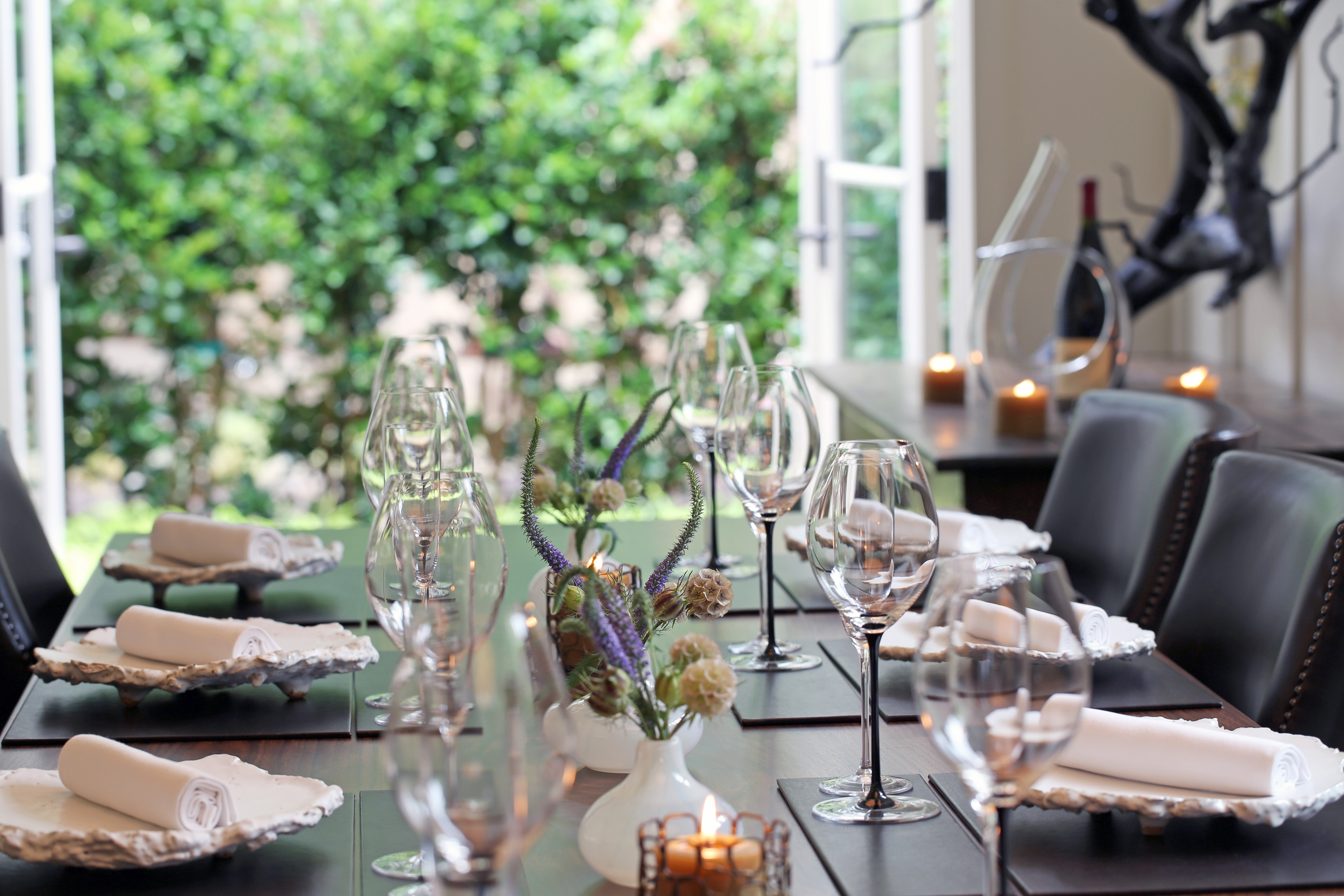 Private dining at Meadowood Restaurant
