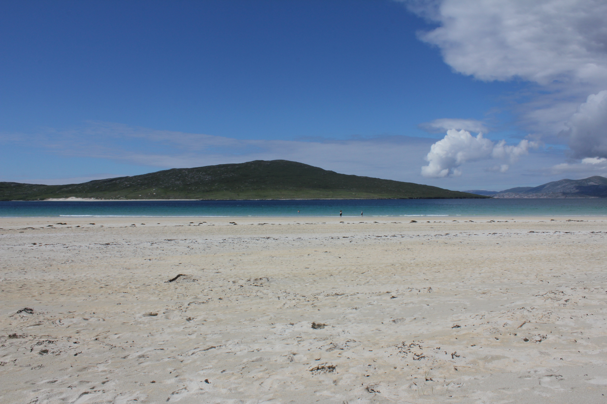 The sand and sea of Luskentyre Beach