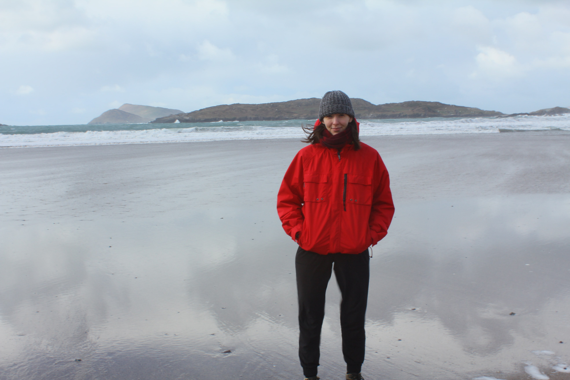 Mandy on the deserted Derrynane Beach