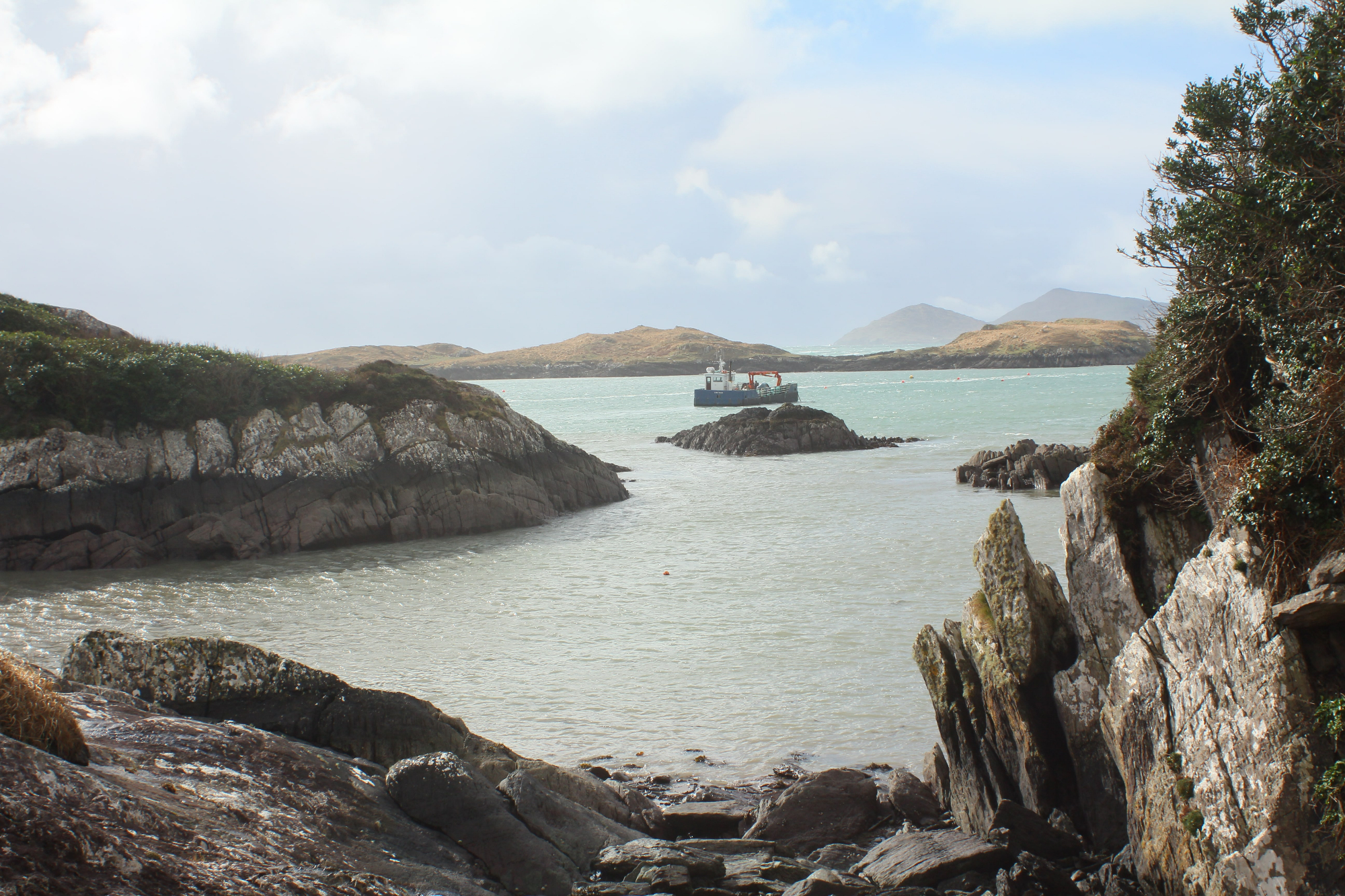 The view out over Derrynane Bay