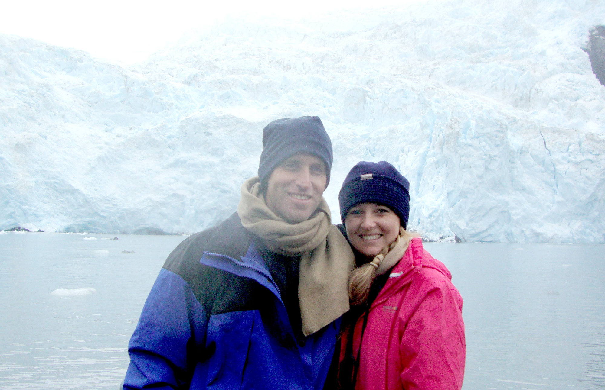 Samantha and her husband in Alaska