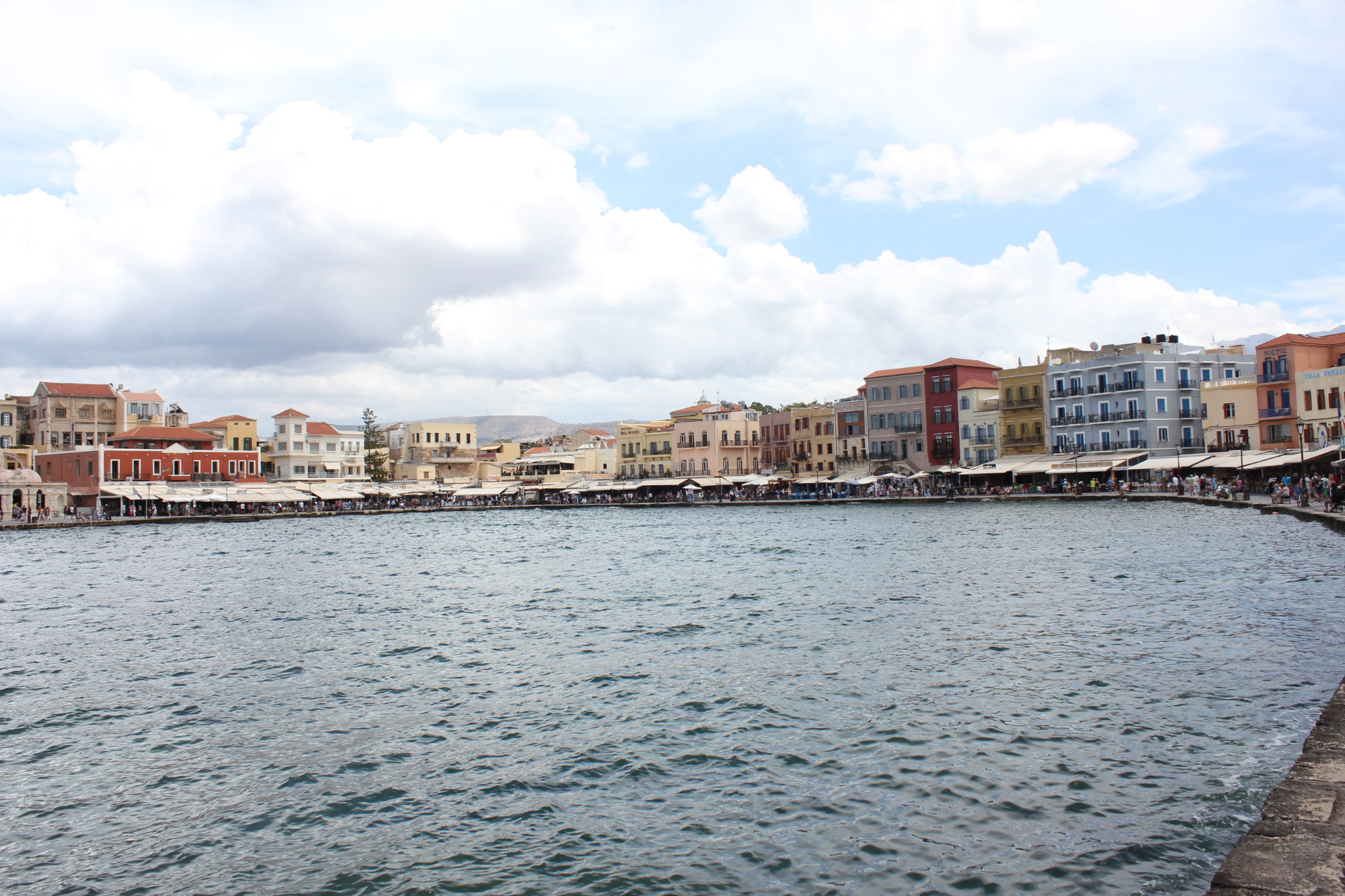 A view of the harbour in Chania, the second largest city on the island.